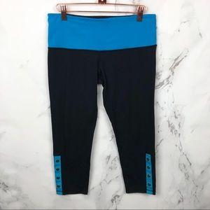 Lululemon Athletica Oh Snap Blue Crops leggings